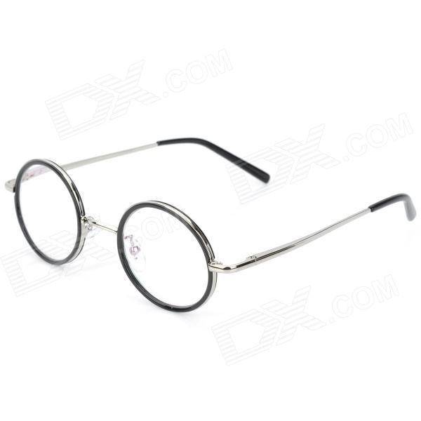 Old Man 100 618 Retro 250 Degrees Resin Lens Zinc Alloy Frame Reading Glasses - Silver old man 100 619 retro 250 degrees resin lens pc frame reading glasses black