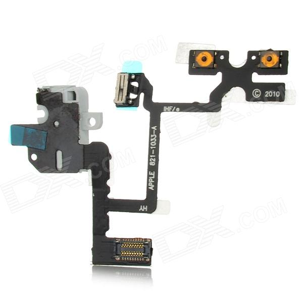 Replacement Headphone Audio Jack Flex Cable for iPhone 4 - Black + Grey