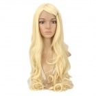 PiaoLiuJiaFa Cosplay Fashion Lady's Straight Bang Non-Remy Hair Long Curly Wig - Moccasin