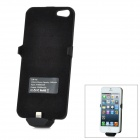 Ultra-Thin External 2500mAh Power Battery Charger Back Case for iPhone 5 - Black