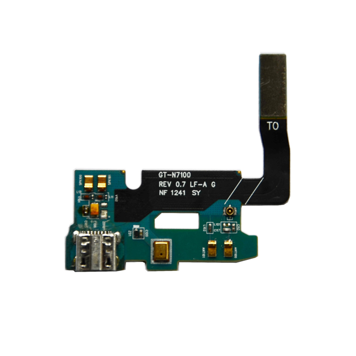 Replacement Micro USB Power Charging Port Flex Cable for Samsung Galaxy Note 2 N7100 - Blue + Black replacement front camera flex cable for samsung galaxy note 2 n7100 black golden