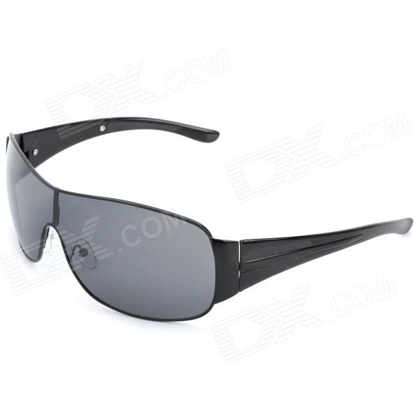 Fashion Resin Lens Sunglasses - Black clip on uv400 protection resin lens attachment sunglasses small