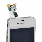 Cute Cat Style Earphone Jack Anti-Dust Plug - Black + White