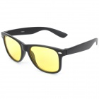 Night Vision Goggles Eyeglasses for Drivers - Black + Yellow