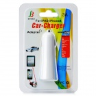 Car Cigarette Powered Charger w/ Dual USB Output for Iphone / Ipad / Ipod / HTC / Samsung - White