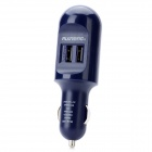 RUINENG RQC-2A Mini Dual USB Car Charger - Deep Blue
