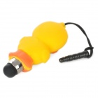 Cute Duck Style Stylus Pen w/ Anti-Dust Plug for iPhone 5 - Yellow