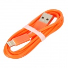 USB Data / Charging 8-Pin Blitz-Kabel für iPhone 5 - Orange (1M)