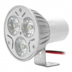 Motorcycle Waterproof 3W 180lm 3-LED White Light Lamps - White (12~80V)