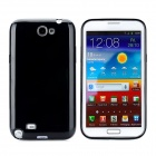 Protective Silicone Back Case for Samsung Galaxy Note 2 N7100 - Black