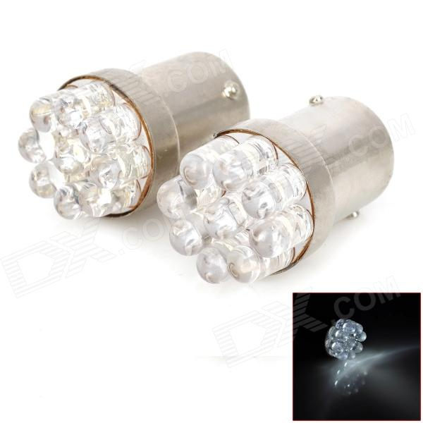1156 0.5W 40lm 9-LED White Light Car Turn Lamp (12V / 2 PCS)