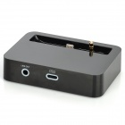 8-Pin Lightning + 3.5mm Charging / Data / Audio Output Dock for iPhone 5 - Black