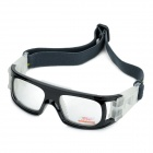 Panlees JH818 Outdoor Sports Anti-Shock Man's Goggles w/ Flexible Band - Black