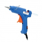 001 Professionelle 20W Hot Melt Glue Gun w / Power Cable - Blue (AC 110 ~ 240V / 2-Flat-Pin Stecker)