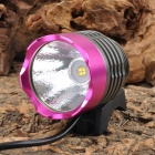 UltraFire SSC Z7 530lm 3-Mode White Bicycle Light - Deep Pink + Black (4 x 18650)