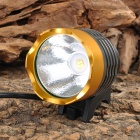 UltraFire SSC Z7 530lm 3-Mode White Light Bicycle Headlamp w/ Crown Head - Golden (4 x 18650)