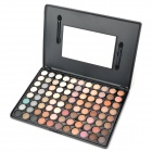 W88 Protective Earthy Color Series 88-in-1 Cosmetic Eye Shadow Palette - Black