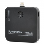 WT-IP5A Tragbare 8-Pin Blitz 2200mAh Power Bank für iPhone 5 - Black + White