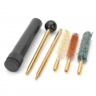 Gun Cleaning Kit Tools Set - Golden + Black (6 PCS)