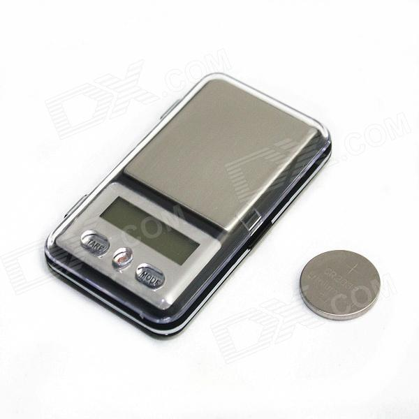 Darley MH-333 1.2 LCD Portable Pocket Digital Scale - Silver + Black (100g/0.01g / 1 x CR2032) portable 1 9 lcd precision jewelry digital pocket scale silver black 300g 0 01g