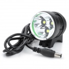 UltraFire WF-LZZ01 2000lm 3-Mode White Bicycle Headlamp w/ 3 x Cree XM-L T6 - Black (4 x 18650)