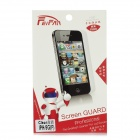 Lip Pattern Protective Clear PET Front + Back Screen Protector for Iphone 5 - Red