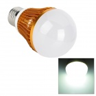 E27 5W 450lm 6500K 5-LED White Light Lamp Bulb - Golden + White (85~265)