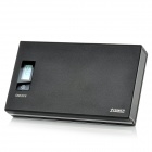 "0,8 ""LCD Externe 12000mAh Emergency Power Charger w / Torch / Dual USB für iPhone / iPad - Schwarz"