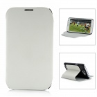 Protective PC & PU Leather Flip-Open Case for Samsung N7100 - White