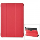 Stylish Protective PU Leather + Plastic Case for Ipad MINI - Red + Black