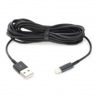 USB 8-Pin Lightning Cable for iPhone 5 / iPad Mini / iPad 4 / iPod Touch 5 - Black (3M)