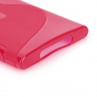 """S"" Style Protective Silicone Back Case for Nokia Lumia 920 - Red"