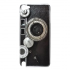 Camera Pattern Protective Plastic Hard Back Case for Ipod Touch 5 - Black