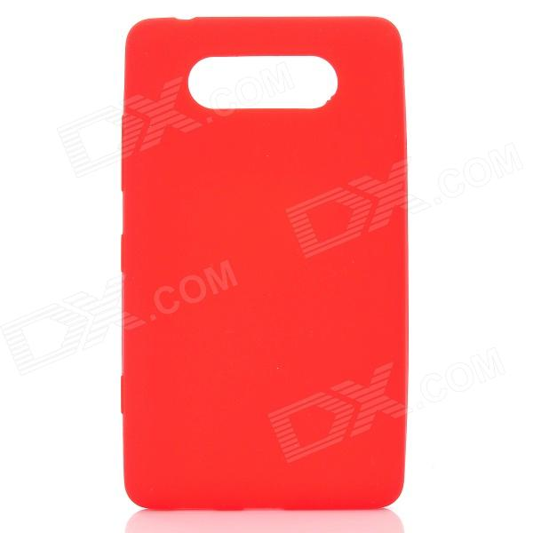 Protective Silicone Back Case for Nokia Lumia 820 - Red