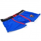 MC Men's Comfortable Soft Cotton Sports Boxers Underwear - Black + White + Blue