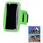 Sports Outdoor Armband for Samsung Galaxy Note 2 N7100 - Black + Green