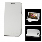 Ultra Thin Protective Flip-Open PU Leather Case for Samsung N7100 - White