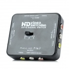 A350 Video Switching AV+S Signal Switch - Black + White