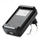 Battery Charger w/ EU Plug Adapter for Samsung Galaxy S3 Mini / i8190 - Black