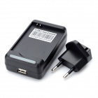 Battery Charger w/ EU Plug Adapter for Samsung S3 Mini / i8190 - Black
