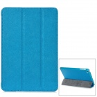 Protective PU Leather Case w/ Smart Cover for iPad Mini - Blue