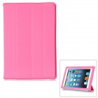 Protective Plastic Case w/ Four Folding Holder for iPad Mini - Pink