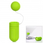 X-Sticker Portable Music Vibration Resonance Speaker for iPhone / iPad / Cell Phone - Yellow Green