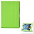 Protective Plastic Case w/ Four Folding Holder for iPad Mini - Green
