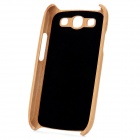 Protective Bamboo Back Case for Samsung Galaxy S3 i9300 - Yellow