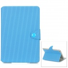 Football Pattern Protective PU Leather Case for Ipad MINI - Blue