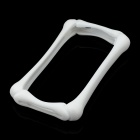 Lovely Bone Style Protective Silicone Bumper Frame for Iphone 4 / 4S - White
