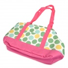 Dot Pattern Outdoor Portable Oxford Cloth Hand / Shoulder Carry Bag for Pet - Deep Pink