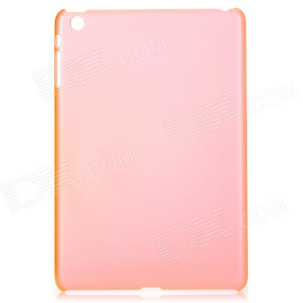 Ultra-thin Frosted Protective Plastic Back Case for Ipad MINI - Translucent Red