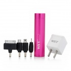 WST-Q9I 2800mAh Portable External Battery for iPhone 4 / 4S / Nokia / Samsung - Deep Pink